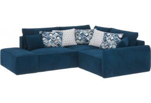 Модульный диван Портленд вариант №1 светло-синий (Микровелюр, правый)
