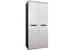 Шкаф распашной двухдверный Виго вариант №1 (венге/белый глянец)