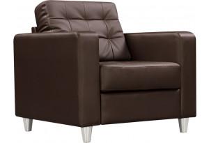 Кресло кожаное Камелот Шоколад