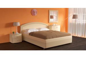 Мягкая кровать 200х140 Малибу вариант №8 с подъемным механизмом (Бежевый)