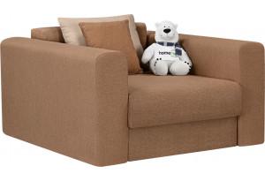 Кресло тканевое Медисон Вариант №2 80 см коричневый (Рогожка)