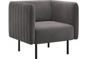 Кресло тканевое Рио тёмно-серый (Велюр)