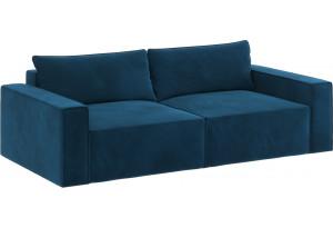 Модульный диван Портленд вариант №9 светло-синий (Микровелюр)