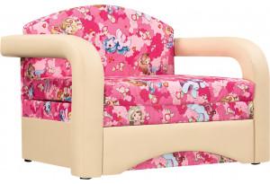 Кресло тканевое Эдем розовый (Микровелюр + Экокожа)