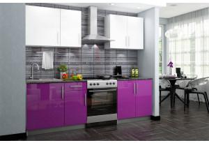 Кухонный гарнитур Версаль 180 см (фиолетовый/белый)