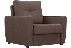 Кресло тканевое Майами коричневый (Рогожка)
