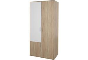 Шкаф распашной трехдверный Лакки (дуб сонома/белый)