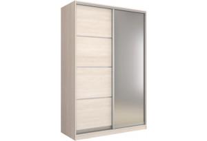 Шкаф-купе двухдверный Манхеттен 160 см (шамони светлый+зеркало)