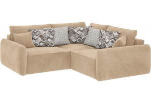 Модульный диван Портленд вариант №6 песочный (Вел-флок)