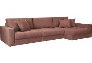 Модульный диван Брайтон вариант №3 розовый (Рогожка)