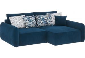 Модульный диван Портленд вариант №4 светло-синий (Микровелюр, правый)