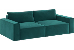 Модульный диван Портленд вариант №9 изумрудный (Микровелюр)