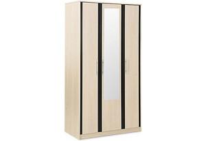 Шкаф распашной трехдверный Арно (дуб кремона+зеркало)