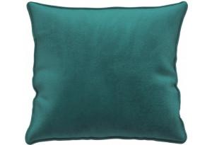 Декоративная подушка Портленд 41х41 см изумрудный (Микровелюр)