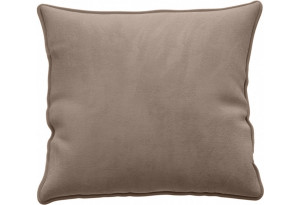 Декоративная подушка Портленд 41х41 см тёмно-бежевый (Микровелюр)