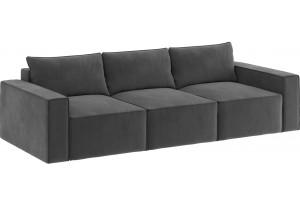 Модульный диван Портленд вариант №10 серый (Микровелюр)