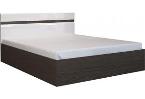 Кровать каркасная 200х160 Римини без подъемного механизма (венге/белый глянец)