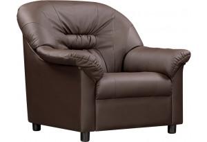 Кресло кожаное Женева Шоколадный (Кожаное изделие)