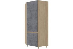 Шкаф распашной угловой Монца (дуб небраска/бетон тёмный)