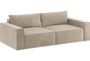 Модульный диван Портленд вариант №9 светло-бежевый (Вел-флок)