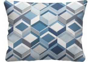 Декоративная подушка Портленд 60х48 см вариант №1 синий (Жаккард)