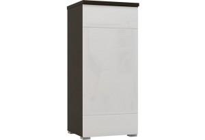 Шкаф распашной однодверный Верона Люкс 103 см вариант №1 (венге/белый глянец)