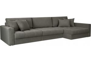 Модульный диван Брайтон вариант №3 серый (Рогожка)
