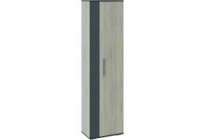 Шкаф распашной однодверный Нуар (дуб сонома/серый)