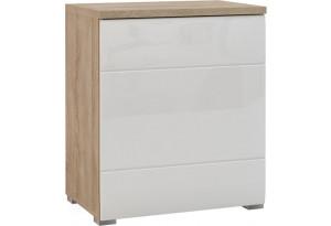 Шкаф распашной однодверный Верона Люкс 70 см вариант №1 (дуб сонома/белый глянец)