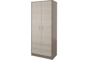 Шкаф распашной двухдверный Санди вариант №1 (крослайн карамель/латте)