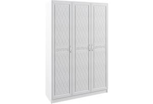 Шкаф распашной трехдверный Диамант вариант №2 (белый)