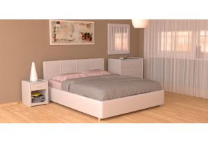 Мягкая кровать 200х120 Малибу вариант №10 с ортопедическим основанием (Белый)