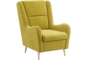 Кресло тканевое Грейс горчичный (Велюр)