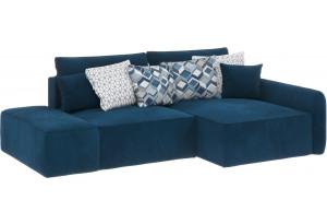 Модульный диван Портленд вариант №3 светло-синий (Микровелюр, правый)