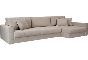 Модульный диван Брайтон вариант №3 бежевый (Рогожка)