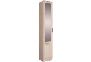 Шкаф распашной однодверный Триполи вариант №1 (зеркало/ясень светлый)