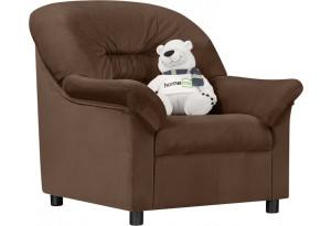 Кресло тканевое Женева темно-коричневый (Велюр)