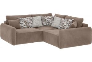 Модульный диван Портленд вариант №6 тёмно-бежевый (Микровелюр)
