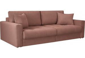 Диван тканевый прямой Брайтон вариант №1 розовый (Рогожка)