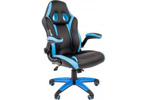 Игровое кресло Chairman game 15 (черный/голубой)