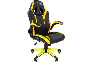 Игровое кресло Chairman game 15 (черный/желтый)