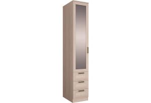 Шкаф распашной однодверный Триполи вариант №3 (зеркало/ясень светлый)