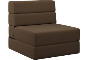 Кресло тканевое Форест тёмно-коричневый (Рогожка)