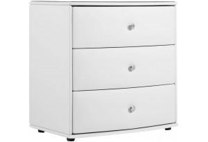 Комод Малибу 3 ящ. вариант №2 (Белый)