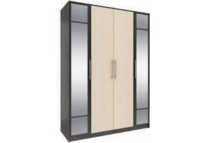 Шкаф распашной 4-х дверный Родос (венге/дуб молочный)