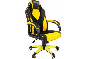 Игровое кресло Chairman game 17 (черный/желтый)