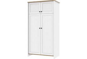 Шкаф распашной двухдверный Тиффани (дубнебраска/белый)