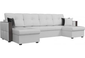 П-образный диван Валенсия Белый (Экокожа)