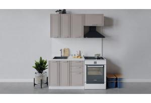 Кухонный гарнитур «Ольга» длиной 160 см (Белый/Кремовый)