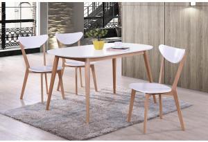 Обеденная группа Max белый / натуральный (3 стула)